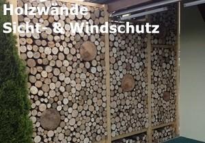 Holzwände Sicht- & Windschutz